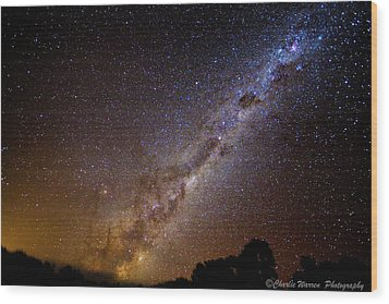 Wood Print featuring the photograph Milky Way Down Under by Charles Warren
