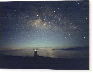 Milky Way Wood Print by Magrath Photography