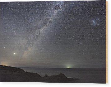 Milky Way Over Flinders, Australia Wood Print by Alex Cherney, Terrastro.com