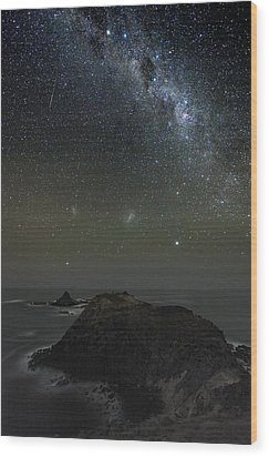 Milky Way Over Phillip Island, Australia Wood Print by Alex Cherney, Terrastro.com