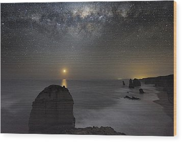 Milky Way Over Shipwreck Coast Wood Print by Alex Cherney, Terrastro.com