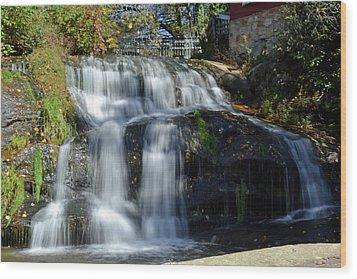 Mill Shoals Falls Wood Print