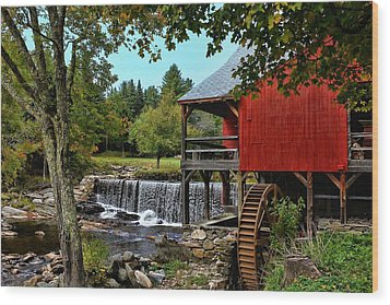 Mill Work  Wood Print by Lanis Rossi