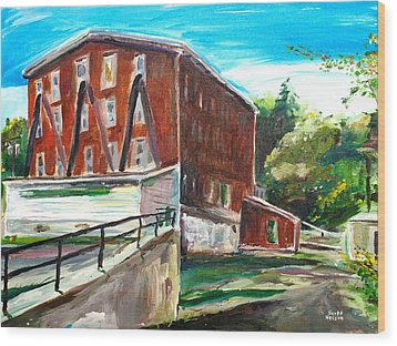 Millbury Mill Wood Print by Scott Nelson