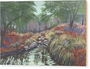 Miller Canyon Creek Wood Print by Drusilla Montemayor