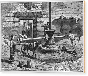 Milling Flour, Historical Artwork Wood Print by Cci Archives