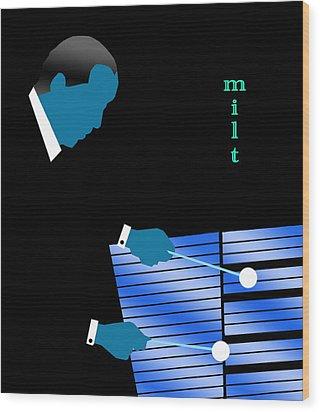 Milt Jackson Blue Wood Print