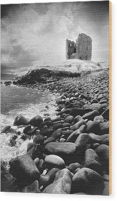 Minard Castle Wood Print by Simon Marsden