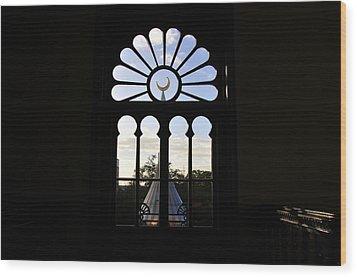 Minaret Through Window Wood Print by David Lee Thompson
