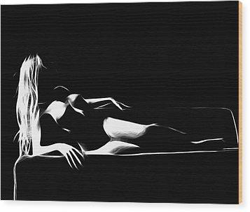 Mind Art Roxanne Wood Print by Steve K