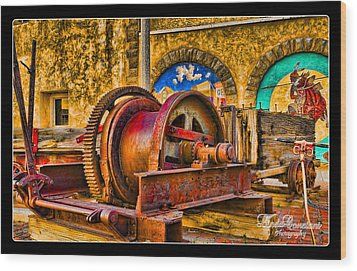 Wood Print featuring the photograph Mine Machinery by Linda Constant