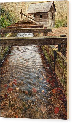 Wood Print featuring the photograph Mingus Mill by Doug McPherson