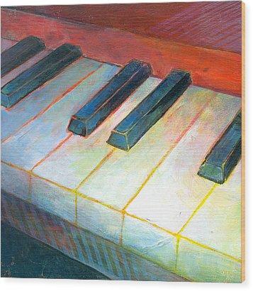 Mini Keyboard Wood Print by Susanne Clark