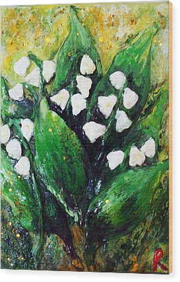 Mini Lilies Of The Valley Wood Print