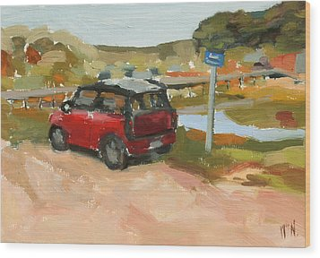Mini On The Cape Wood Print by William Noonan