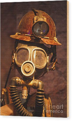 Mining Man Wood Print by Randy Harris