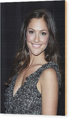 Minka Kelly In Attendance For The 9th Wood Print by Everett