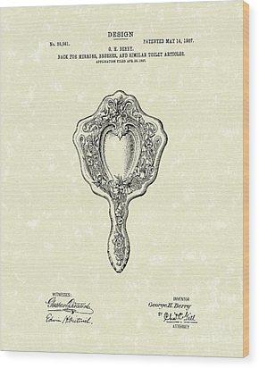 Mirror Back Design I 1907 Patent Art Wood Print by Prior Art Design