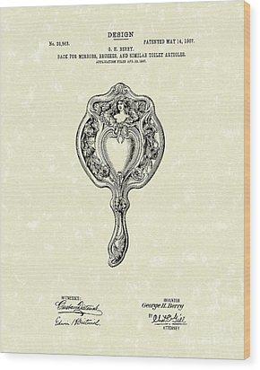 Mirror Back Design II 1907 Patent Art Wood Print by Prior Art Design