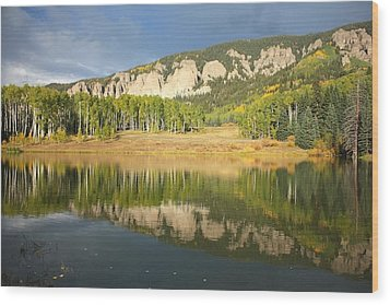 Mirror Lake  Wood Print by Drusilla Montemayor