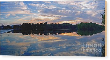 Mirror Mirror On The Water Wood Print by Sue Stefanowicz