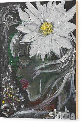 Miss Daisy Wood Print by Sladjana Lazarevic