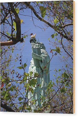 Wood Print featuring the photograph Miss Liberty by Paul Mashburn