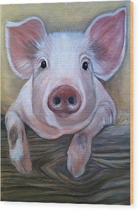 Miss Piggy Wood Print by Stephanie L Carr
