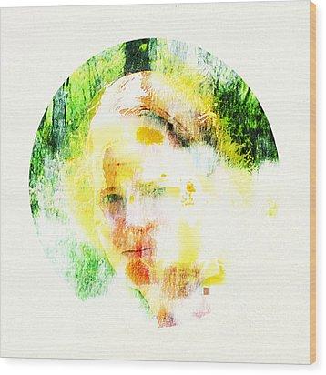 Miss. Sunshine 2 Wood Print by Greta Thorsdottir