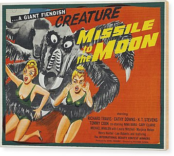 Missile To The Moon, Half-sheet Poster Wood Print by Everett