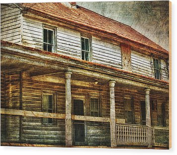 Missing A Window Wood Print by Kathy Jennings