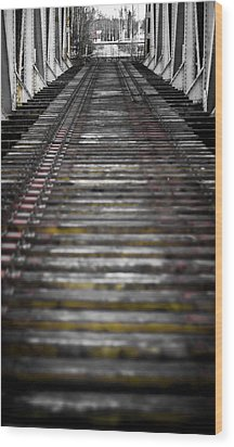 Wood Print featuring the photograph Missing Tracks by Matti Ollikainen