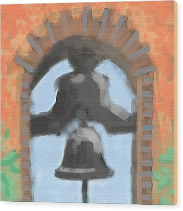 Mission Bell Wood Print
