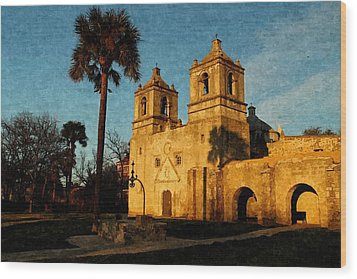 Mission Concepcion In Oil Wood Print