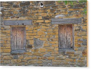 Mission Dwelling Windows Wood Print by Peter  McIntosh
