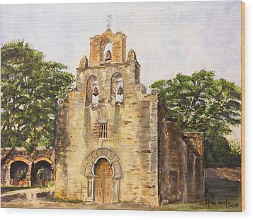 Mission Espada Wood Print