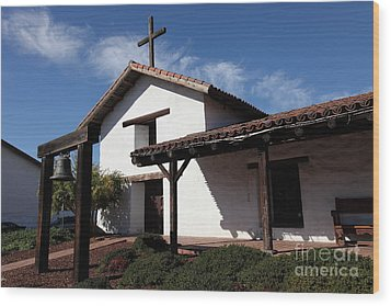 Mission Francisco Solano - Downtown Sonoma California - 5d19300 Wood Print by Wingsdomain Art and Photography