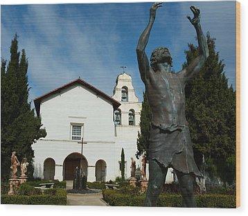 Mission San Juan Bautista Wood Print by Jeff Lowe