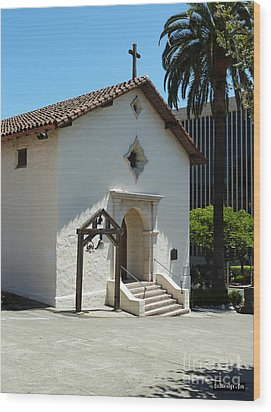 Mission San Rafael Arcangel Chapel Wood Print by Methune Hively