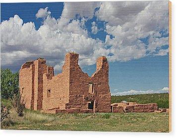 Mission To Quarai New Mexico Wood Print by Christine Till