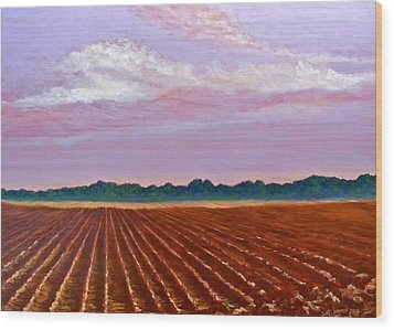 Mississippi Land And Sky Wood Print by Jeanette Jarmon