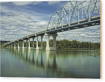 Wood Print featuring the photograph Mississippi River At Wabasha Minnesota by Tom Gort