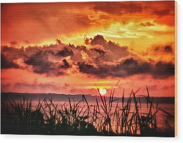 Wood Print featuring the photograph Mississippi Sunset At The Ross Barnett Reservoir 1 by Jim Albritton