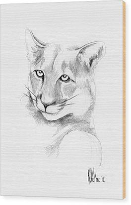 Missouri Mountain Lion  Wood Print by Kip DeVore