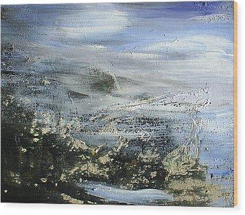 Mist On Water Wood Print by Tanya Byrd