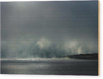 Misty Crossing-2 Wood Print by Marie-Dominique Verdier