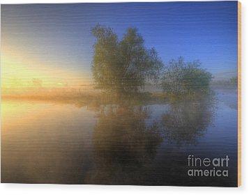 Misty Dawn 1.0 Wood Print by Yhun Suarez
