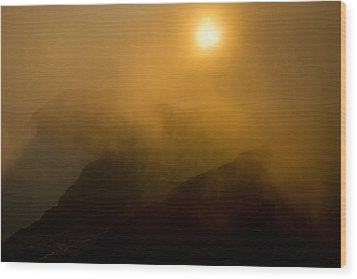 Misty Hongpo Sunset South Korea Wood Print by Gabor Pozsgai