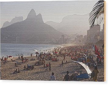 Misty Ipanema Wood Print by George Oze