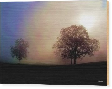 Wood Print featuring the photograph Misty Morning by George Bostian